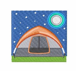 Camping Tent embroidery design