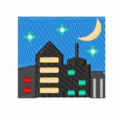 Night Skyline embroidery design