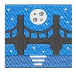 Night Bridge embroidery design