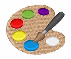 Artist Palette embroidery design