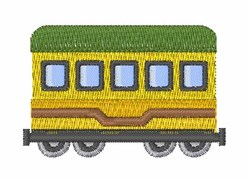 Railway Car embroidery design