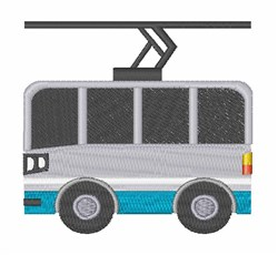 Trolley embroidery design