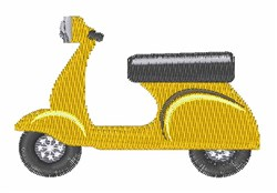 Vespa Scooter embroidery design
