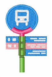 Bus Stop embroidery design