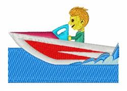 Speedboat embroidery design