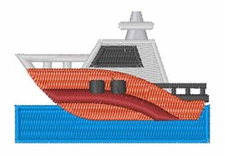 Motor Boat embroidery design