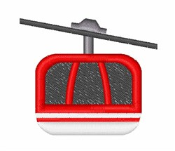 Aerial Tramway embroidery design