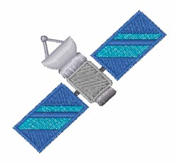 Orbital Satellite embroidery design