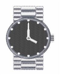 Wrist Watch embroidery design