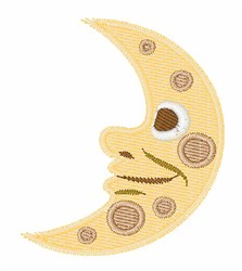 First Quarter Moon embroidery design