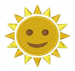 Sun With Face embroidery design