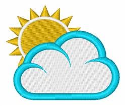 Sun & Cloud embroidery design