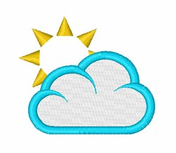 Sun And Cloud embroidery design