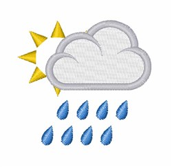 Rain Cloud embroidery design
