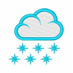 Snow Cloud embroidery design