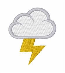 Lightening Cloud embroidery design