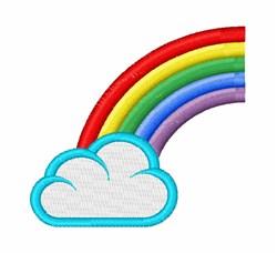 Rainbow Cloud embroidery design