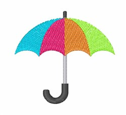 Colorful Umbrella embroidery design