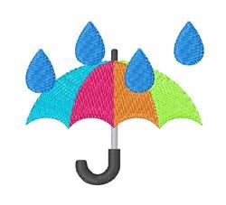 Rain Umbrella embroidery design