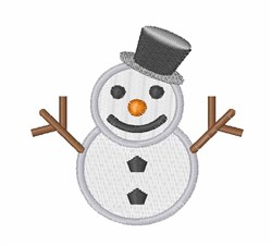 Snowman embroidery design