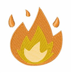 Fire embroidery design