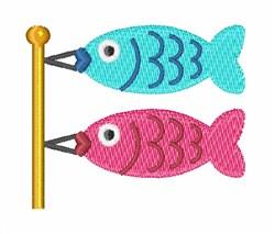Fish Kite embroidery design