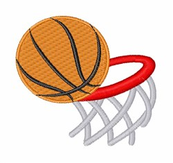 Basket ball & hoop embroidery design