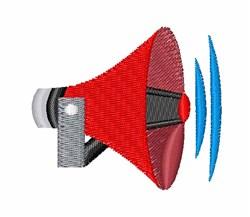Loudspeaker embroidery design