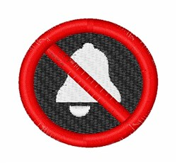 No Bell Sign embroidery design