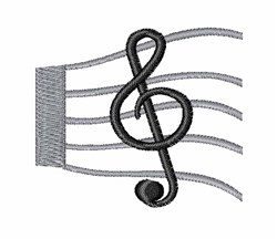 Musical Score embroidery design