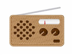 Radio embroidery design