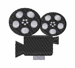 Film Projector embroidery design