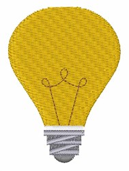 Light Bulb embroidery design