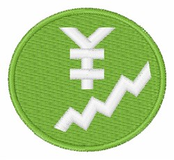 Yen Sign Chart embroidery design