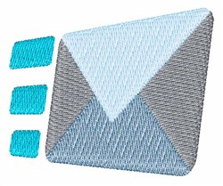 Incoming Envelope embroidery design