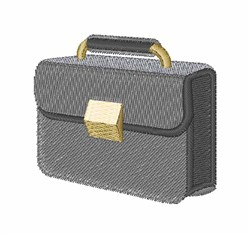 Briefcase embroidery design