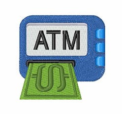 ATM Machine embroidery design