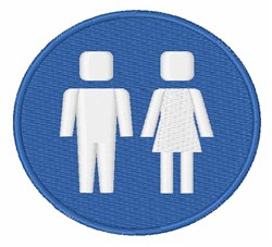 Restroom Sign embroidery design
