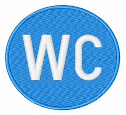 Water Closet Sign embroidery design