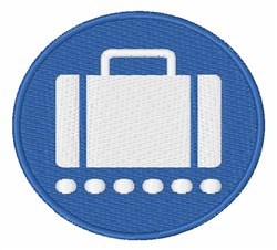 Baggage Claim Sign embroidery design