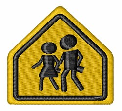 School Crossing embroidery design