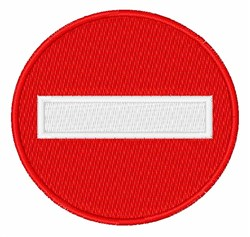 No Entry Sign embroidery design