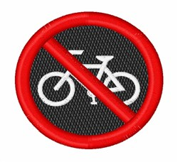 No Bicycles embroidery design