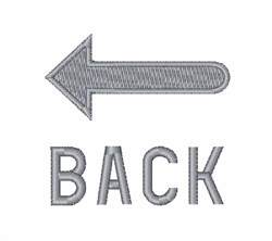 Turn Back Sign embroidery design