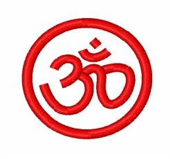 Om Symbol embroidery design