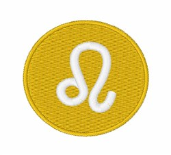 Leo Symbol embroidery design