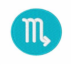 Scorpio Symbol embroidery design