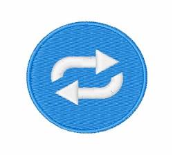 Repeat Button embroidery design