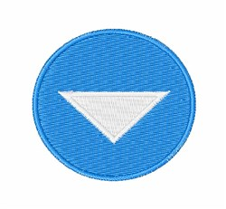 Down Arrow embroidery design