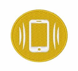 Vibration Mode Button embroidery design